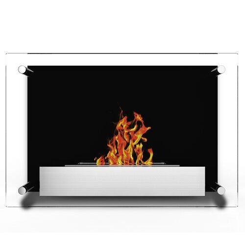 milan ventless wall mounted bio ethanol fuel fireplace