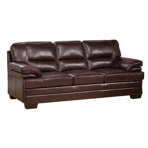 Grain Leather Sofa: San Paolo Top Grain Leather Sofa, Loveseat And Chair Set