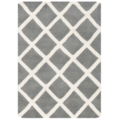 Chatham Cross Dark Grey & Ivory Area Rug by Safavieh
