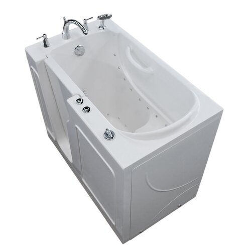 Therapeutic tubs mohave 53 x 29 whirlpool air jetted for Walk in tub water capacity