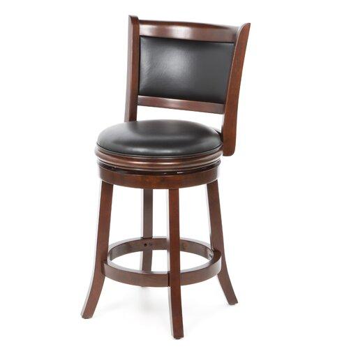 "Boraam Augusta 24 In Swivel Counter Stool: Boraam Augusta 24"" Swivel Bar Stool With Cushion & Reviews"