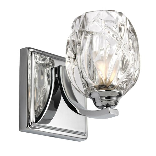 Murray Feiss Kalli: Feiss American Foursquare 1 Light Half Moon Wall Sconce