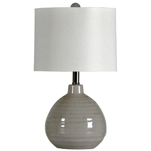 Style Craft Ceramic 21 5 Quot H Table Lamp With Drum Shade