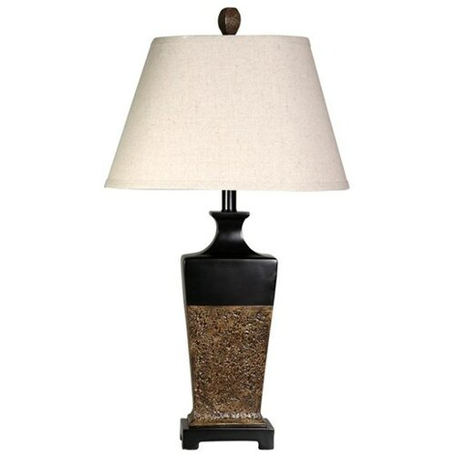 aged wood 29 h table lamp with empire shade wayfair. Black Bedroom Furniture Sets. Home Design Ideas