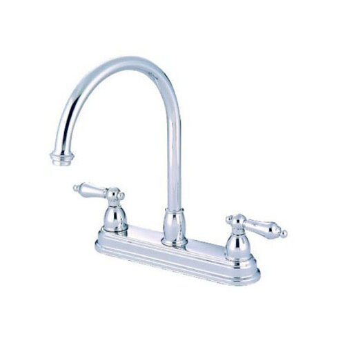 Elements Of Design Double Handle Centerset Kitchen Faucet With Metal Lever Handles Reviews