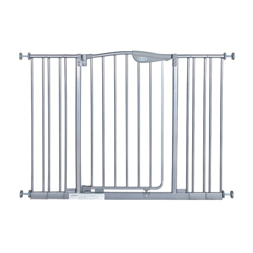 Tall metal auto close safety gate with extension wayfair