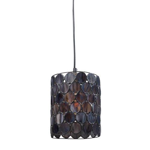 Titan Lighting Tiffany Buckingham 4 Light Ceiling Mount: Landmark Lighting Capiza 1 Light Mini Pendant & Reviews