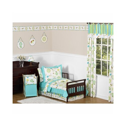 Leyla 5 Piece Fabric Modular Sectional Living Room Set Blue: Sweet Jojo Designs Layla 5 Piece Toddler Bedding Set