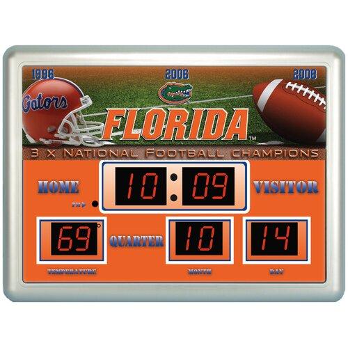 Ncaa Scoreboard Wall Clock With Thermometer Wayfair