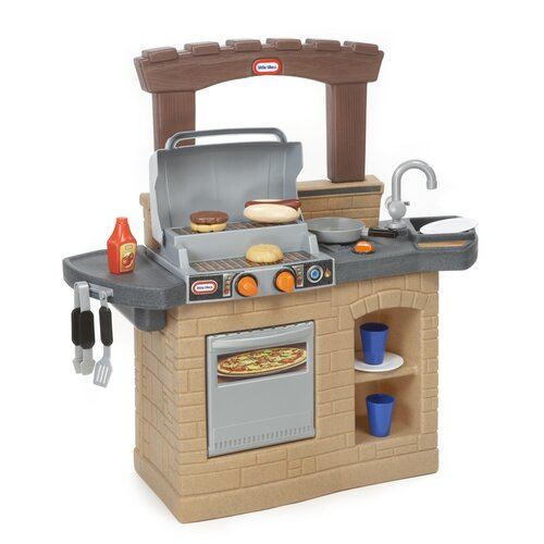 little tikes cook 39 n play outdoor bbq kitchen set reviews