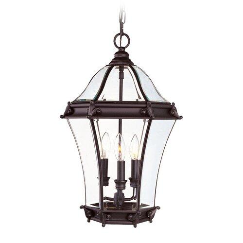 Livex Lighting Fleur De Lis 3 Light Outdoor Hanging