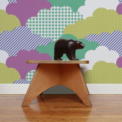 """Aimee Wilder Wallpaper: Analog 15' X 27"""" Clouds Wallpaper"""