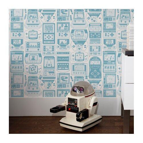 Aimee Wilder Wallpaper: Aimee Wilder Designs Kiki Gameland 15' X 28'' Wallpaper