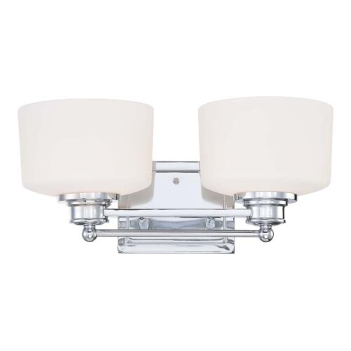 Charlton Home Prophete 2 Light Bath Vanity Light & Reviews Wayfair
