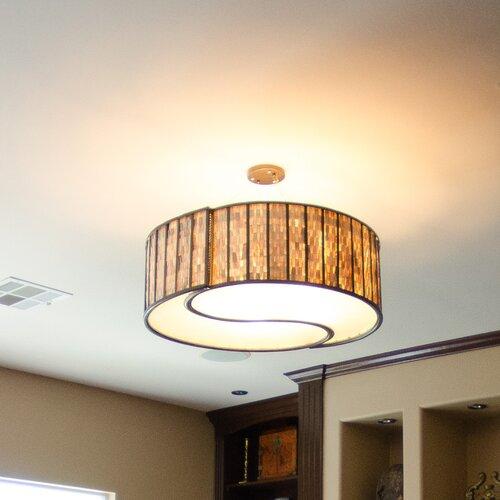 Foyer Drum Lighting : Affinity light drum foyer pendant wayfair