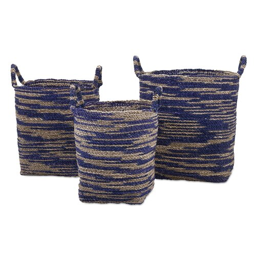 3 Piece Cyprus Seagrass Baskets Set by Bungalow Rose