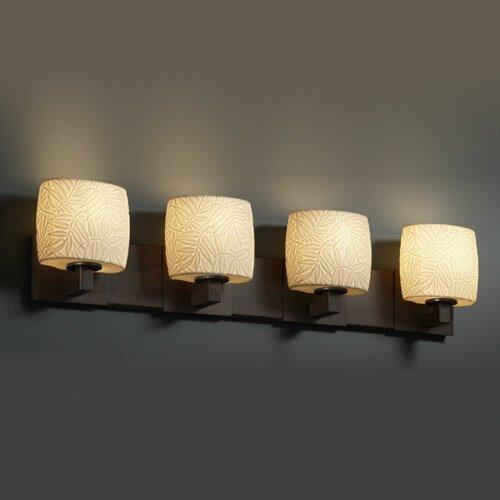 Justice Bathroom Lighting: Justice Design Group Limoges Modular 4 Light Bath Vanity