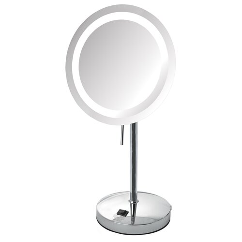 Jerdon Led Lighted Tabletop 5x Magnification Mirror