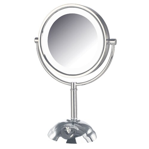 Vanity Mirror With Lights Led : Jerdon Dual Sided Lighted LED Vanity Mirror & Reviews Wayfair