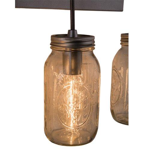 Mason Jar Vanity Light How To : Mason Jar 3 Light Vanity Light Wayfair
