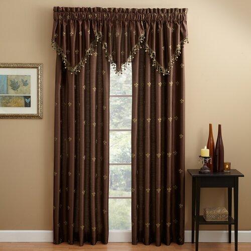 Lisa fleur de lis lined curtain panel wayfair Fleur de lis window treatments