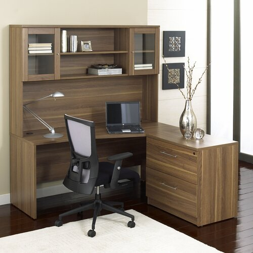 Jesper office 100 3 piece l shape desk office suite reviews wayfair - Jesper office desk ...