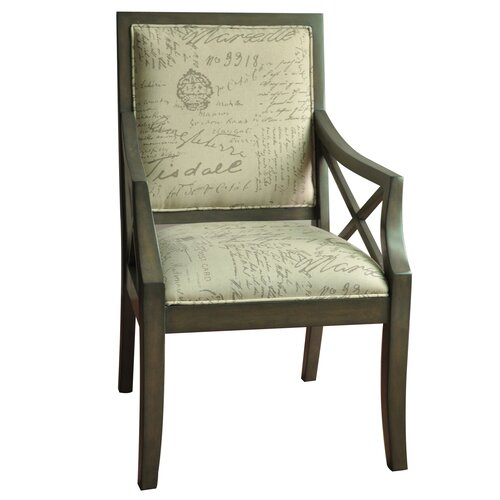 Driftwood french script arm chair wayfair