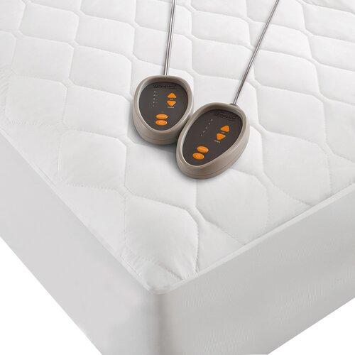 Beautyrest Microfiber Heated Mattress Pad With Scotchgard