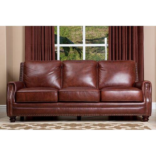 Abbyson Living Furniture Reviews : Abbyson Living Bel Air Leather Sofa & Reviews  Wayfair