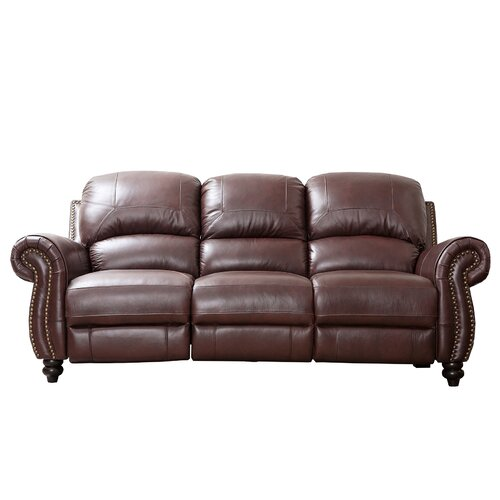 Abbyson living charlotte leather reclining sofa reviews for Abbyson living sedona leather chaise recliner