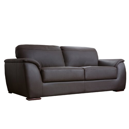 abbyson living ashton leather sofa reviews wayfair