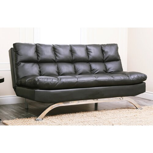 abbyson living reedley bonded leather sleeper sofa reviews wayfair