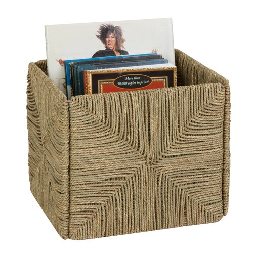 Folding Seagrass Storage Basket by Honey Can Do