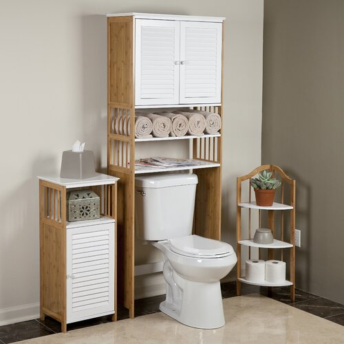 Danyab Bamboo Bathroom 27 Quot X 71 Quot Over The Toilet Cabinet