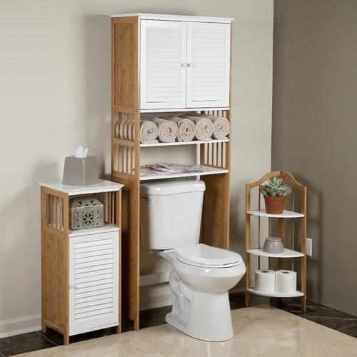 danyab bamboo bathroom 27 x 71 over the toilet cabinet