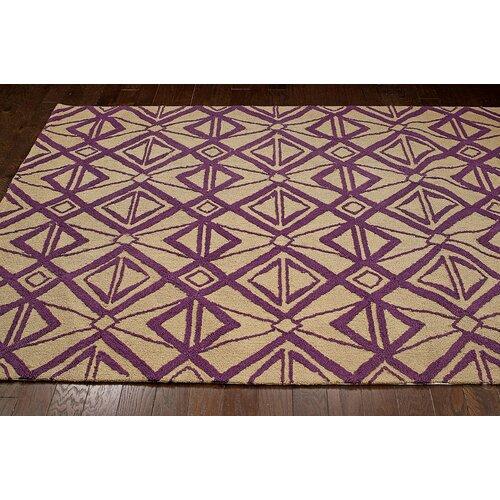 Novel Purple Imture Indoor Outdoor Area Rug