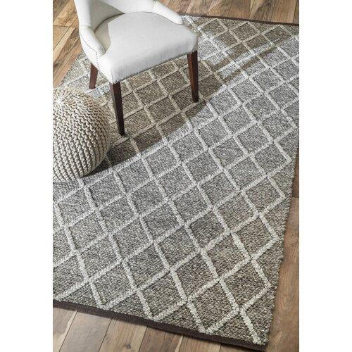 Diamond Trellis Flatwoven Gray Area Rug Wayfair