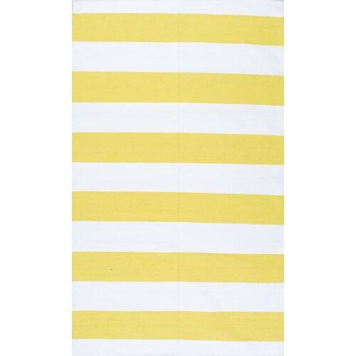 hailey yellow white area rug wayfair. Black Bedroom Furniture Sets. Home Design Ideas