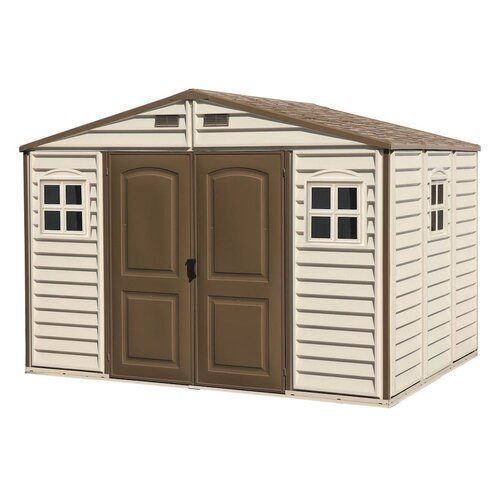 Duramax Woodside 10 1 2 Ft W X 8ft D Vinyl Storage Shed
