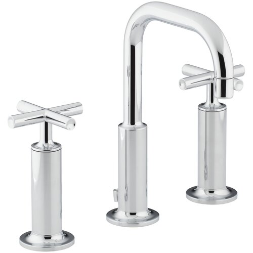 Kohler Purist Widespread Bathroom Sink Faucet With High Cross Handles And Low