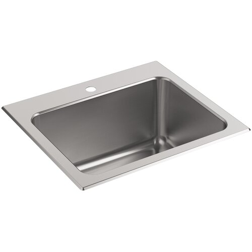 Ballad Top-Mount Utility Sink with Single Faucet Hole Wayfair