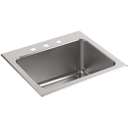Ballad Top-Mount Utility Sink with 3 Faucet Holes by Kohler