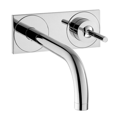 axor uno single handle wall mounted faucet with base plate wayfair. Black Bedroom Furniture Sets. Home Design Ideas
