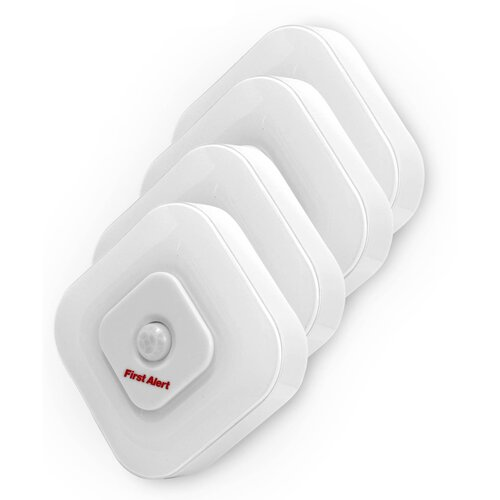first alert indoor motion sensor led night light reviews wayfair. Black Bedroom Furniture Sets. Home Design Ideas