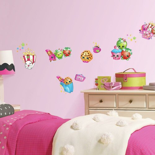 Room mates shopkins peel and stick wall decals amp reviews wayfair
