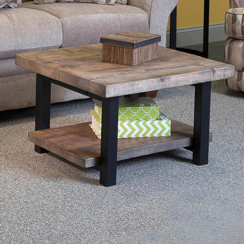 """Reclaimed Wood Coffee Table Square: Alaterre Pomona 27"""" Reclaimed Wood Square Coffee Table"""