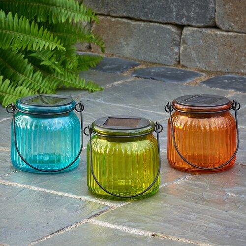 Smart Solar Solar 3 Light Outdoor Hanging Glass Jar