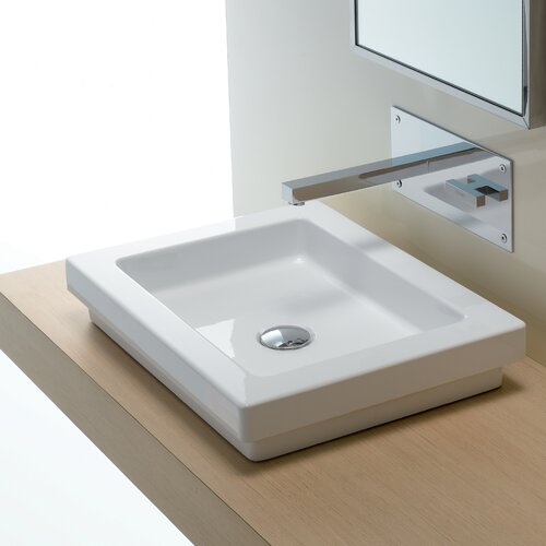 Bissonnet area boutique logic 50 ceramic bathroom sink for Ceramic bathroom bin