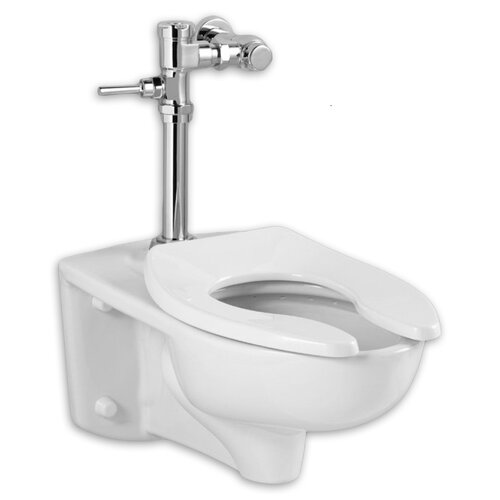 Commercial Toilet Valve : ... Afwall Commercial 1.28 GPF Elongated Manual Flush Valve 1 Piece Toilet