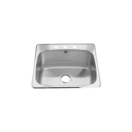 Stainless Steel Drop-In 25.63-Inch x 22.06-Inch Single Bowl Utility Sink in Brushed Satin by ...
